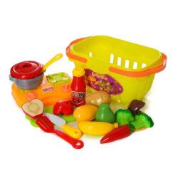 """2554639984 w640 h640 2554639984 250x250 - Дитячий ігровий набір """"Кухня"""" з фруктами і овочами на липучках"""