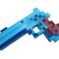 """2562743183 w640 h640 2562743183 250x250 - Пістолет """"Minecraft"""" зі звуковими і світловими ефектами Блакитний"""