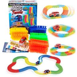 """2567913423 w640 h640 2567913423 250x250 - Дитячий гоночний гнучкий трек """"Magic Tracks"""" на 220 деталей"""
