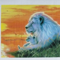 """2895935251 w640 h640 2895935251 250x250 - Картина з страз """"білий лев"""""""