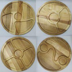 1 4 250x250 - Дерев'яна тарілка 30см
